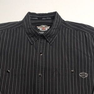 HARLEY-DAVIDSON Mens Long Sleeve Oxford Shirt